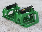 72 Heavy Duty Root Rake Grapple Bucket Attachment For John Deere Tractor Loader