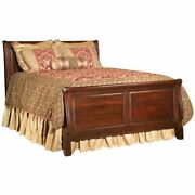 Kincaid Carriage House Traditional Cherry Patina Sleigh Bed Queen 60-150