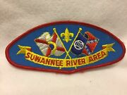 Mr4 Boy Scouts- Suwannee River Area Csp - T-1 Issue, Measures 5 1/2 X 2 1/2