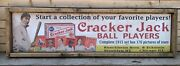 Antique Style 1915 Cracker Jack Baseball Card Ad Wood Printed Sign Ty Cobb 48
