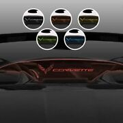 For 14-19 C7 Convertible Corvette Text And Flag Logo Red Illumination Wind Blocker