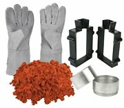 Sand Casting Set 10 Lbs Quick Metal Cast Sand Clay Mold Frame Safety Gloves Kit