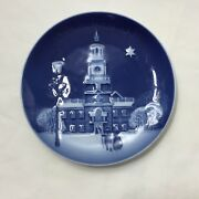 1991 Bing And Grondahl Christmas In America Plate Christmas Eve Independence Hall