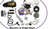 2 Stroke 70cc Bad A Racing Engine Motorized Bicycle. Iron Sleeve Electric St