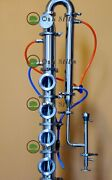 3 Stainless Moonshine Still Reflux Column With Copper Bubble Plate