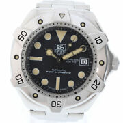 Tag Heuer Super Professional Ws2110-2 Stainless Steel Silver Automatic [e0516]