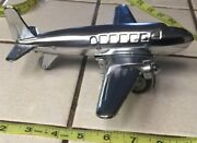 Toy Wind Up Twin Propeller Cessna Metal Air Plane