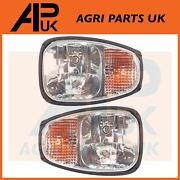 Pair Rh Front Headlights Headlamps Head Light Lamp Units For Jcb Fastrac Tractor