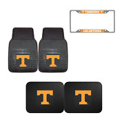 Tennessee Volunteers Car Truck Front Rear Floor Mats Set And 1 License Plate Frame