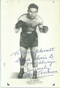 Autographed Photo Phil Terranova World Featherweight Champion 1943