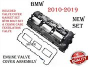 Engine Valve Cover With Crankcase Vent Valve,gasket Set And Bolts Assembly For Bmw
