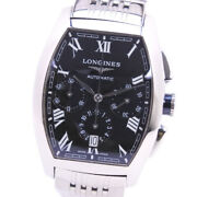 Longines Evidenza Chronograph L 2.643.4 Stainless Steel Silver Automatic [e0520]