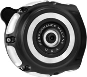 Performance Machine Vintage Indian Chief Contrast Cut Air Cleaner 0206-2133-bm