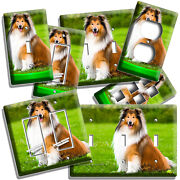 Gorgeous Rough Collie Dog Lightswitch Outlet Wall Plate Grooming Pet Salon Decor
