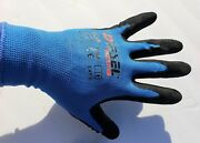 1 Case 120 Pair Diesel Blue Coated Latex/poly/cotton Safety Gloves Wholesale
