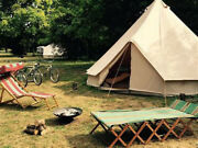 5m Canvas Bell Tent Fly Camping Glamping Waterproof Family Yurt Tent Stove Jack