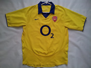 Vintage Nike Arsenal London The Gunners Soccer Game Jersey In Size L