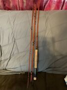 Ll Bean Fly Spin Pack Rod 7and039 6 4 Piece Wright And Mcgill Fiberglass Fishing Pole