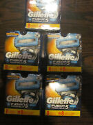 New Genuine Gillette Fusion 5 Proshield Chill 5 Packs Of 8 = 40 Blades