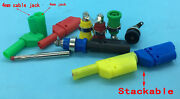 4mm Banana Stackable Test Plug / Binding Post Onnector Insulated Safety Lead End