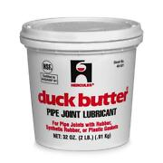 Hercules Duck Butter 2 Lb Pipe Synthetic Rubber Plastic Gaskets Joint Lubricant