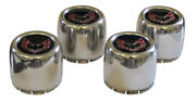 1977-81 Trans Am Snowflake And Turbo Wheel Center Cap Set Red And Black
