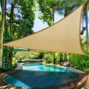 16and039 X 16and039 X 16and039 Sun Shade Sail Triangle Sand Outdoor Canopy For Patio Lawn Yard