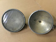 Vintage Pair 1920and039s 1930andrsquos Guide Twilite Headlamp Gm Chevrolet Headlights Patina