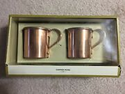 Moscow Mule Stainless Steel W/ Copper Finish Mug 12.5 Oz Set Of 2
