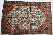 Genuine Antique Fine Pershian Farahan Rug Mythical Motives Peacock And Animals