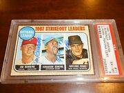 1968 Topps 11 Jim Bunning Fergie Jenkins Gaylord Perry Signed Auto Psa Dna Hof