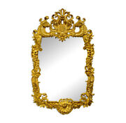 Fantastic Gold Leaf Mirror French Louis Xv Carved Wood Rococo Style New Handmade