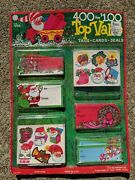 Vintage Christmas Gift Tags Cards Seals 400 Nos 1950s 1960s Unpunched Peck Inc