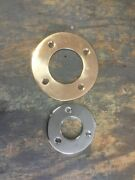 Pair Boat Trim Rings One Polished Brass One Chrome Plated Deck Hardware
