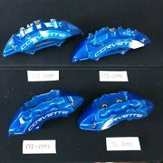 New Gm Oem Brembo 2009-13 Chevy Corvette Blue Zr1 Front And Rear Brake Calipers