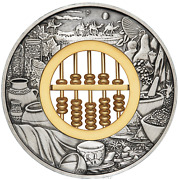 In Stock 2019 Abacus 2oz .9999 Silver 2 Antiqued Coin