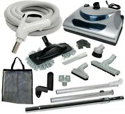 30' Or 35' Central Vacuum Kit With Hose, Power Head And Tools Beam Nutone Eureka
