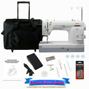 Janome 1600p-qc High Speed Sewing And Quilting Machine W/ Exclusive Bonus Bundle