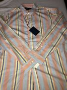 Vintage Polo Button Down Shirt Pearl Buttons 2xl Xxl Made In Italy