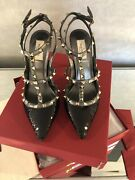 Valentino Sequence Ankle Strap Rockstud Caged Pump/heel/black. Size 41 1095