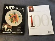 Lot Of 100 Art Culinaire Books Culinary Hardcover 1-100 Consecutive