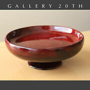 Gorgeous Handcrafted Mid Century Ca Redwood Bowl 1950and039s Catchall Compote Retro