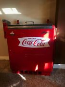 Vintage Coca Cola Full Size Cooler.andnbsp Glasco Coin Operated