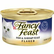 Purina Fancy Feast Adult Canned Wet Cat Food Flaked Fish And Shrimp