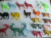 20 Toy Animals Mixed Colours Camels Reindeer Llama Goats Lions Tigers Giraffes