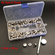 Stainless Steel Snap Fastener Canvas Screw Press Stud Marine Boat Cover Kit Set