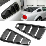 2x 1/4 Sporty Look And Stand Out For Ford Mustang Black 2005-2014