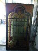 Antique Stained Glass From Church In Ny New York Early 1900s Can Hang From Top