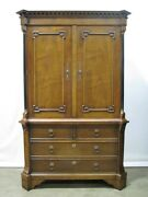 Stunning High-end Hickory Chair Mahogany Georgian Style Armoire/linen Press Mint