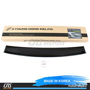 Smoked Rear Visor Roof Spoiler Wind Deflector For 2015-2017 Toyota Camry